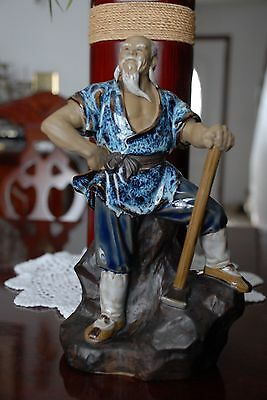 Chinese Antique  Porcelain Old Man Statuary
