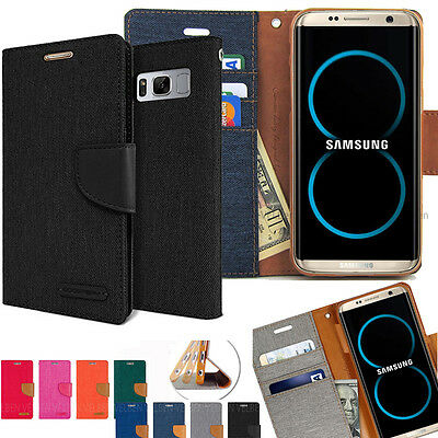For Galaxy Note 10 Plus / S10 S9 S8 Case Impact Resistant TPU Flip Wallet Cover