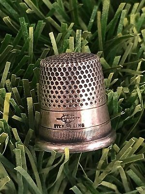 Antique Sterling Silver WEBSTER CO Thimble ATTELBORO MA SZ 9