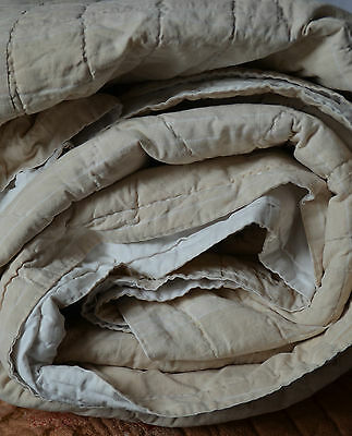antique French hand sewn piqué de cotton, provencal quilt