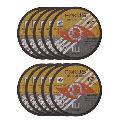 10 Pack Ultra Thin Disc 4-1/2'' x 0.045'' Metal & Stainless Steel Cut Off Wheels