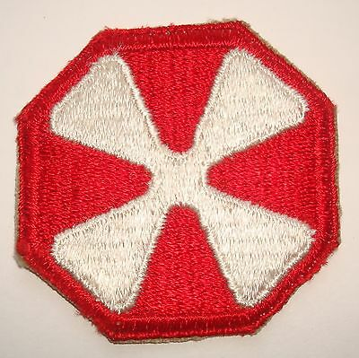 ORIGINAL CUT EDGE WW2 8th ARMY PATCH WWII