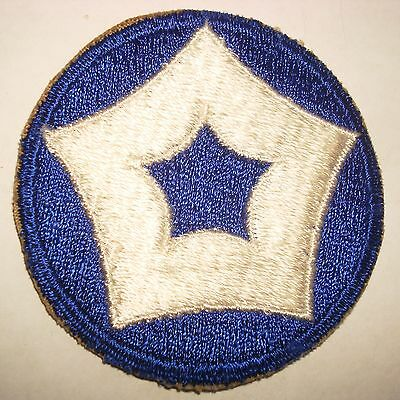 ORIGINAL WWII CUT EDGE ARMY 5th SERVICE COMMAND PATCH WW2