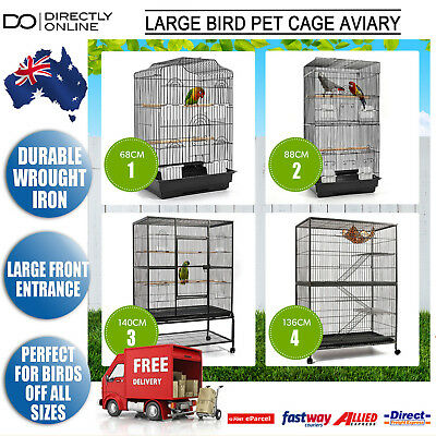 Pet Bird Cage Enclosure Aviary Large Parrot Budgie Cat Ferret Hamster Rat Animal