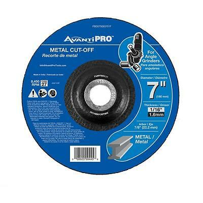 "Avanti 7"" 10 Pack Metal Cut Off Disk Cutting Wheel Angle Grinder 7/8 in Arbor"