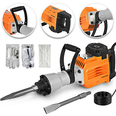 3600W Electric Demolition Jack Hammer Concrete Breaker Punch 2 Chisel Bit Case