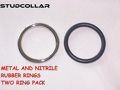 STUDCOLLAR-METAL/NITRILE-RUBBER GLANS Rings - double pack and in TWO Sizes