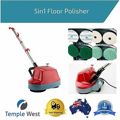 5in1 Floor Polisher Cleaner Scrubber Buffer Waxer Electric Housekeeping Cleaning