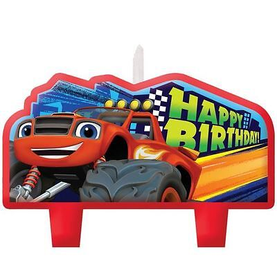 4 Blaze & The Monster Machines Children's Party Birthday Cake Candles
