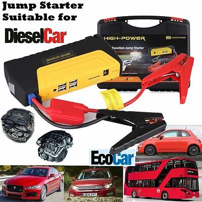 68800mAh 12V Auto Jump Starter Car Emergency Charger Booster Power Bank Battery