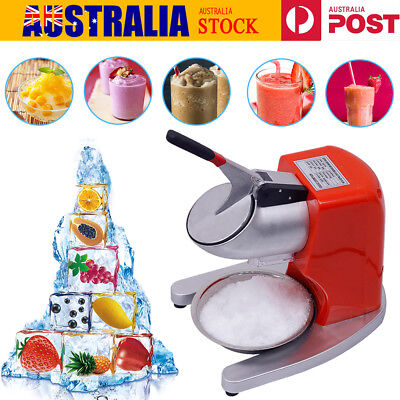 65kg/h Double Blades Electric Ice Crusher Snow Cone Maker Smoothie Ice Shaver