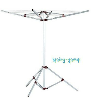 Clothes Line Hanger Airer Dryer Portable Foldable Camp Travel Aluminium Indoor