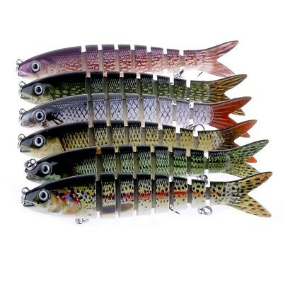 Vivid 8 Section Multi-jointed Fishing Lures Life-like Swimbait Lure 13.6cm/18.7g