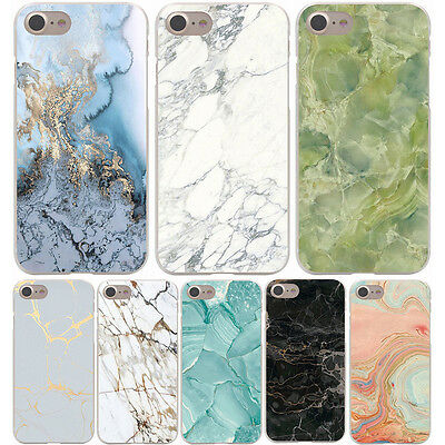Coque Marble Stone Design Hard Case Samsung Galaxy S A J G Note Huawei Iphone