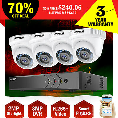 ANNKE 1080P 8CH CCTV DVR Ind/Out Security 2MP Camera System Home Monitoring HDMI