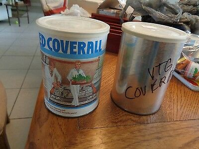 (2) Vintage 1960's-70's COVERALLS in a can..UNOPENED Rare