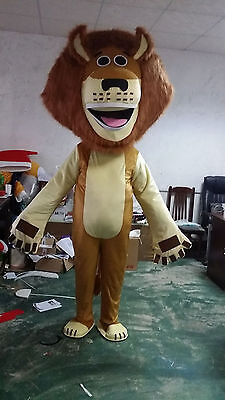 New Adult Size Lion King Mascot Costume Fress Shipping Fancy Dress Cosplay