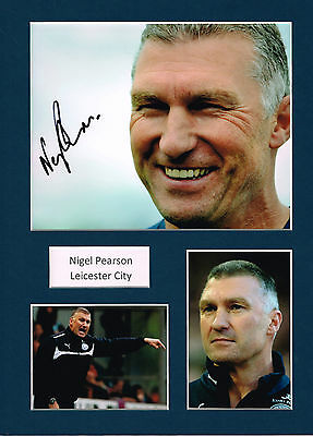 Nigel PEARSON SIGNED Autograph 16x12 Photo Mounted AFTAL COA Football Manager