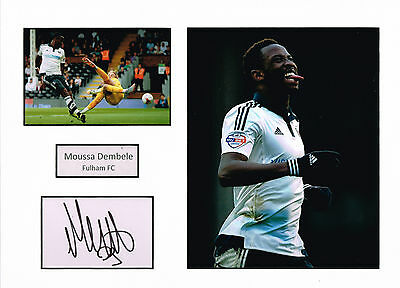 Moussa DEMBELE SIGNED Autograph 16x12 Mounted Card AFTAL COA Fulham CELTIC