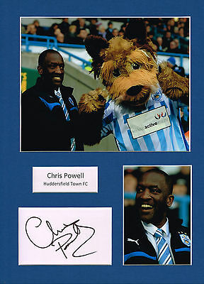 Chris POWELL SIGNED Autograph 16x12 Mounted Card AFTAL Huddersfield Town