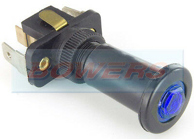 Blue Illuminated 12V Volt 10A Universal On/off Long Push/pull Switch