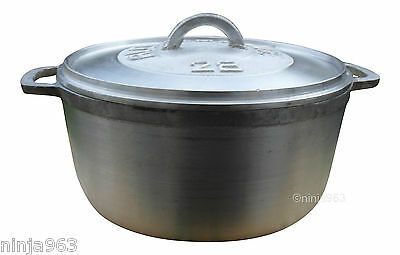 Jamaican Caribbean Dutch Pots Dutch Oven Heavy Duty Dutchie 13 Sizes 20cm - 30cm