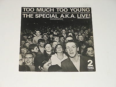 "The Specials - 7"" EP - Too Much Too Young - PAPER LABELS - Two-Tone CHS TT 7-B"