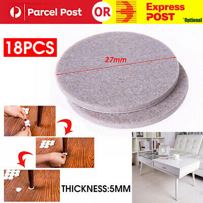 18 Pcs Chair Leg Protector Pads Feet Furniture Table Covers Round Bottom AU