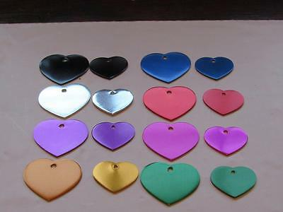 Custom Engraved Dog/Cat Pet ID Tag-Heart Shape-Large or Small Size-8 Colors
