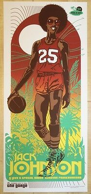 2004 Jack Johnson & G Love - The Gorge Silkscreen Concert Poster by Ames Design