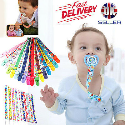 BABY BOYS and girls CHARACTER Dummies CLIP Holder Dummy Soother Pacifier chain