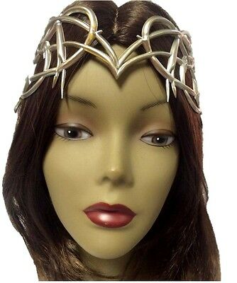 Medieval Fantasy Antique Silver Crown Adult Womens Halloween Costume Accessory