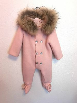 Mebi Snowsuit For Baby 6-12 Months With Hooded Fur Pink Sold Out