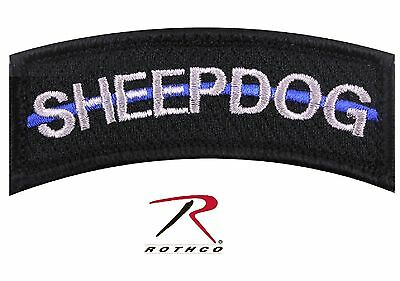The Thin Blue Line SHEEPDOG Hook Back Tactical Patch Rothco Morale Patches