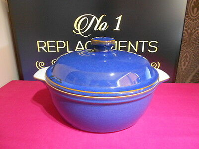 Denby Imperial Blue Round Casserole Dish 4 Pint Capacity