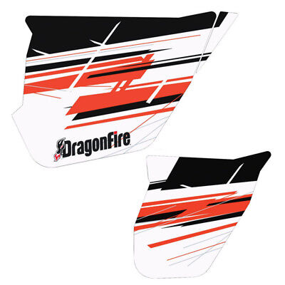 DragonFire HiBoy Door Graphics Can-Am Maverick MAX XRS 2014-2015 Blk/White/Red