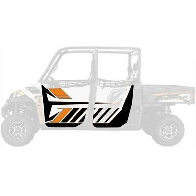 DragonFire Door Graphics Polaris Ranger XP 900 Crew 2013-2015 White Lightning