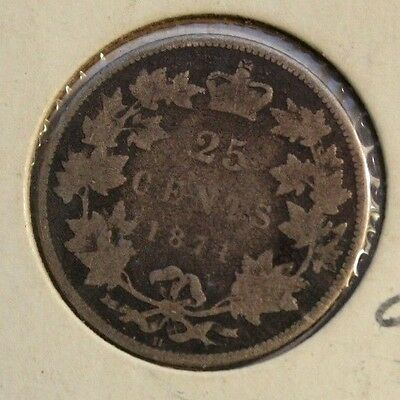 Canada 1874H  25 Cents