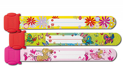 Sigel SY391 Child Safety Wristband for Girls, Design: Ballerina, Butterfly, Flow