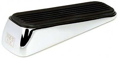 H and S 2 X Heavy Duty Stainless Steel With Rubber Door Wedge Stop Metal Bumper