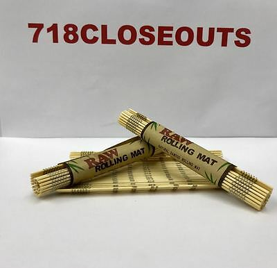 """1 (roll) (4.75""""x 3.25"""") AUTHENTIC Raw All Natural Bamboo Cigarette Rolling Mats"""