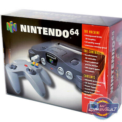 1 x N64 Nintendo 64 Box Protector for Console STRONG 0.5mm Plastic Display Case