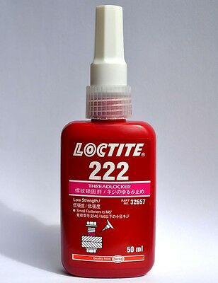 Loctite 222 Purple - Low Strength Threadlocker - 50ml