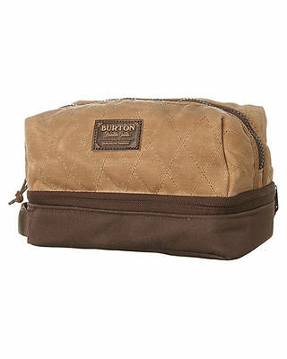 NEW Burton Low Maintenance Kit Beagle Brown Waxed Canvas Toiltery Bag