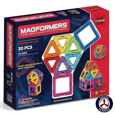 Magformers Basic 30 Pce Set 701005 Brand New
