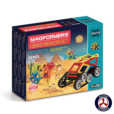 Magformers Desert Adventure Set 32pce 703010 Brand New