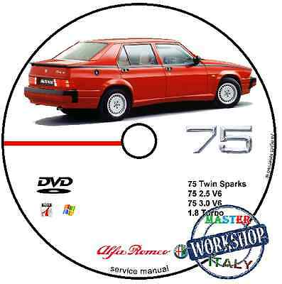 Manuale Officina Alfa Romeo 75 Workshop Manual Service Cd Dvd Software