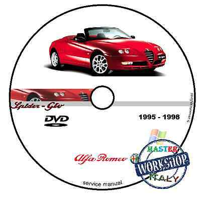 Manuale Officina Alfa Romeo Spider Gtv 1995 1998 Workshop Manual Service Cd Dvd