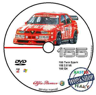 Manuale Officina Alfa Romeo 155 Workshop Manual Service Cd Dvd Software