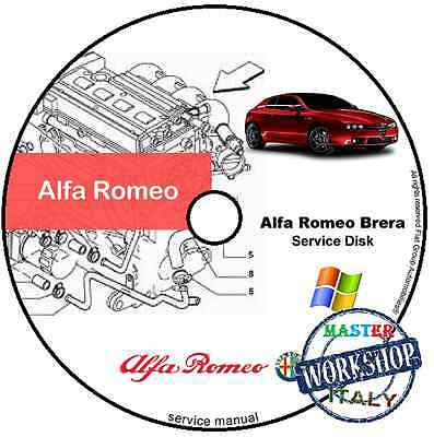 Manuale Officina Alfa Romeo Brera Workshop Manual Service Dvd Software E-Learn